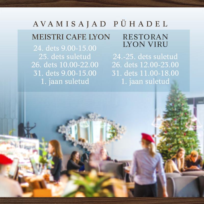 Restoranid Tallinnas pühade ajal avatud