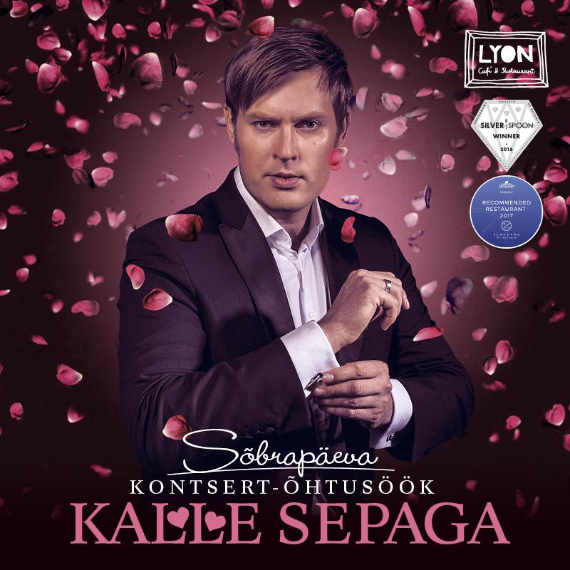 Sõbrapäeva õhtusöök ja kontsert Kalle Sepaga Tallinna restoranis Lyon